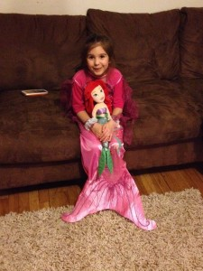 She loves mermaids