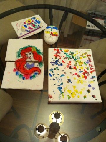 The kiddos masterpieces!